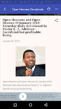 2019 Open Heavens Devotional screenshot thumbnail