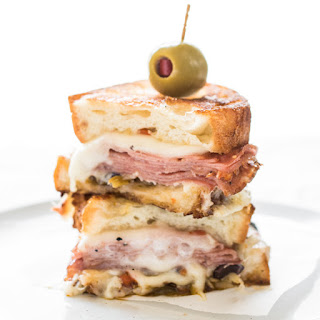 Hot Muffaletta Sandwich