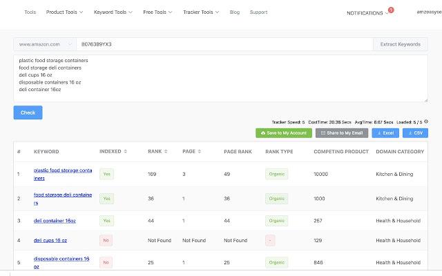 Amazon Index Checker AND Keyword Rank Checker