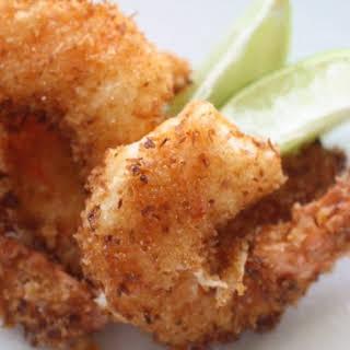 Crispy Pina Colada Shrimp.