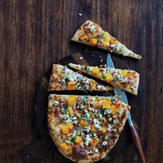 Rustic Squash Pizza with Goat Cheese Gremolata