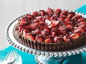 Chocolate-strawberry Cream Cheese Tart Recipe