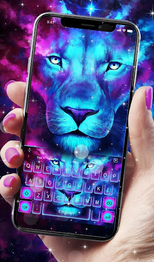 PC u7528 Galaxy Blue Eyes Lion Keyboard Theme 2