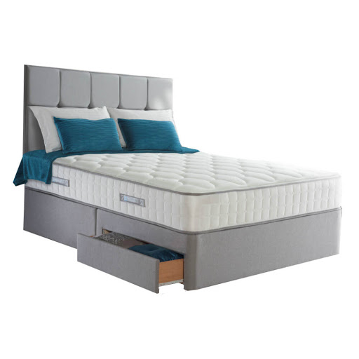Sealy 1400 Pocket Silver Genoa Divan Bed