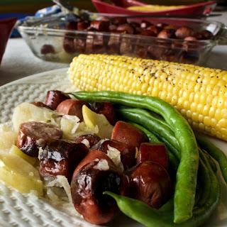 Sauerkraut and Sausage Casserole.