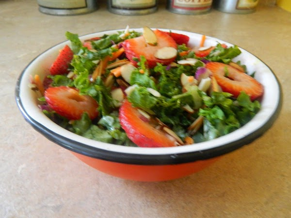 Kale And Strawberry Salad W/creamy Citrus Dressing Recipe