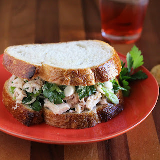 Green Onion & Parsley Tuna Sandwich