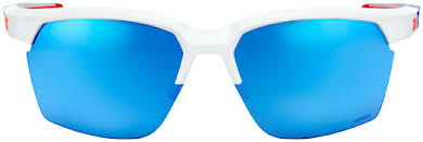100% SportCoupe Sunglasses: Polished White/Geo Print Frame with HiPER Blue Multilayer Mirror Lens, Spare  alternate image 2