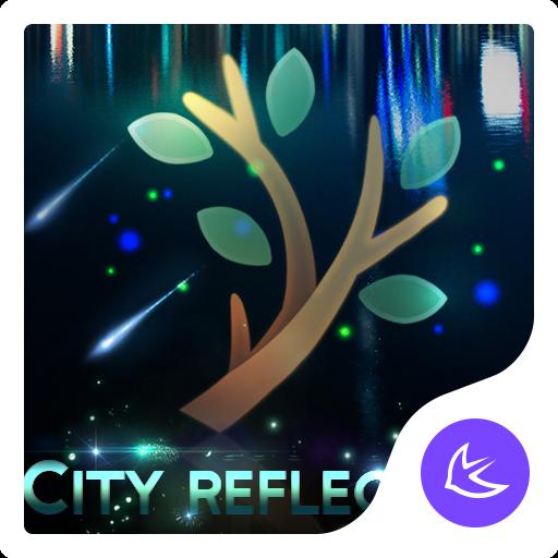 City Night Reflection-APUS Launcher theme Icon