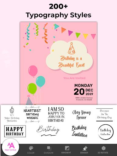 Invitation Maker Free, Paperless Card Creator android2mod screenshots 12