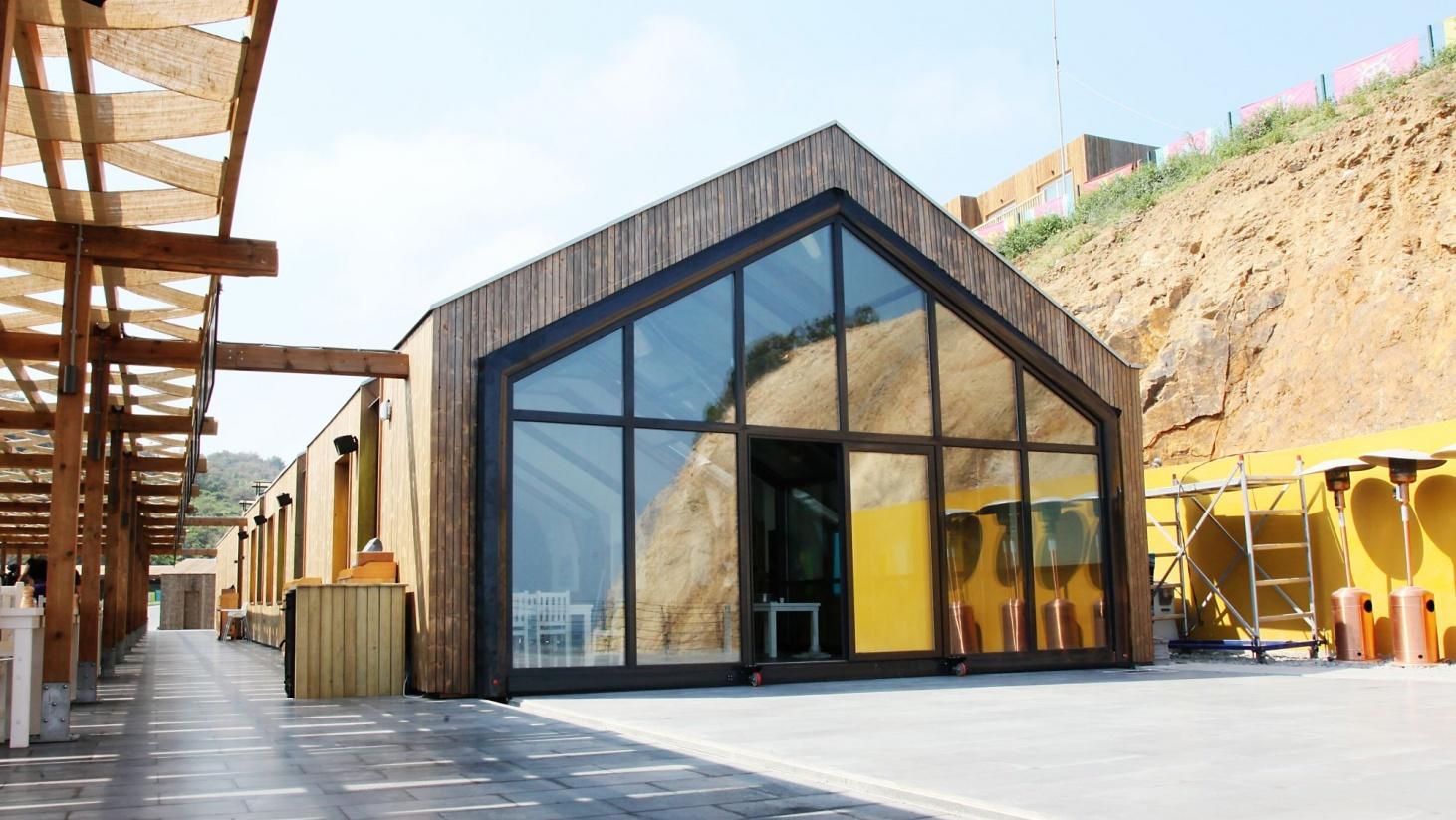 small restaurant exterior