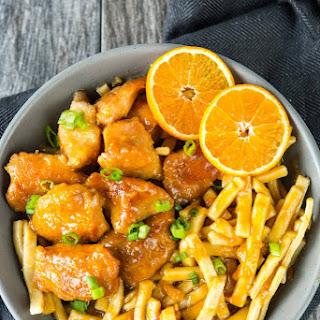 Slow Cooker Orange Sesame Chicken and Noodles.