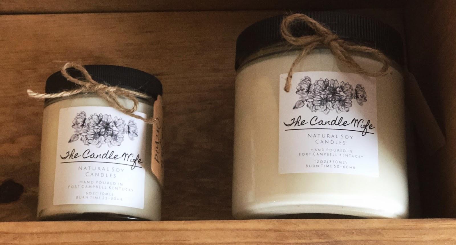 candle on a shelf