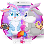 Pink Cute Rabbit Theme