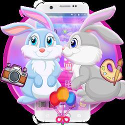 Pink Cute Rabbit Theme