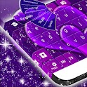 GO Keyboard Purple Hearts icon