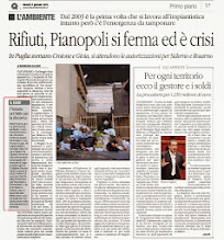 Photo: Emergenza rifiuti (Dal Quotidiano del 2.01.2014) La protesta di Aiello Calabro