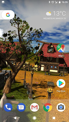 Cartoon Village 3D Live Wallpaper Free - screenshot
