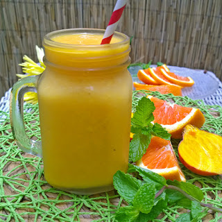 Golden Beet, Orange, and Mango Smoothie