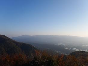養老山地(左に笙ヶ岳など)