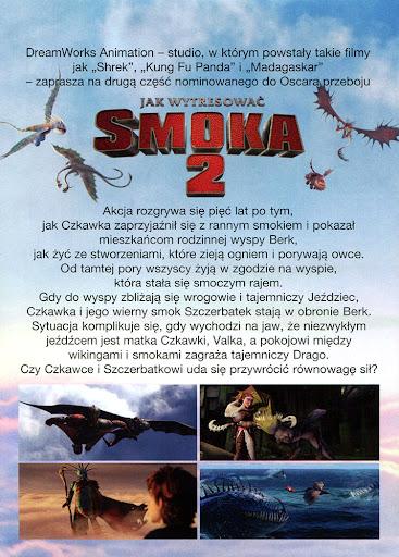 Tył ulotki filmu 'Jak Wytresować Smoka 2'