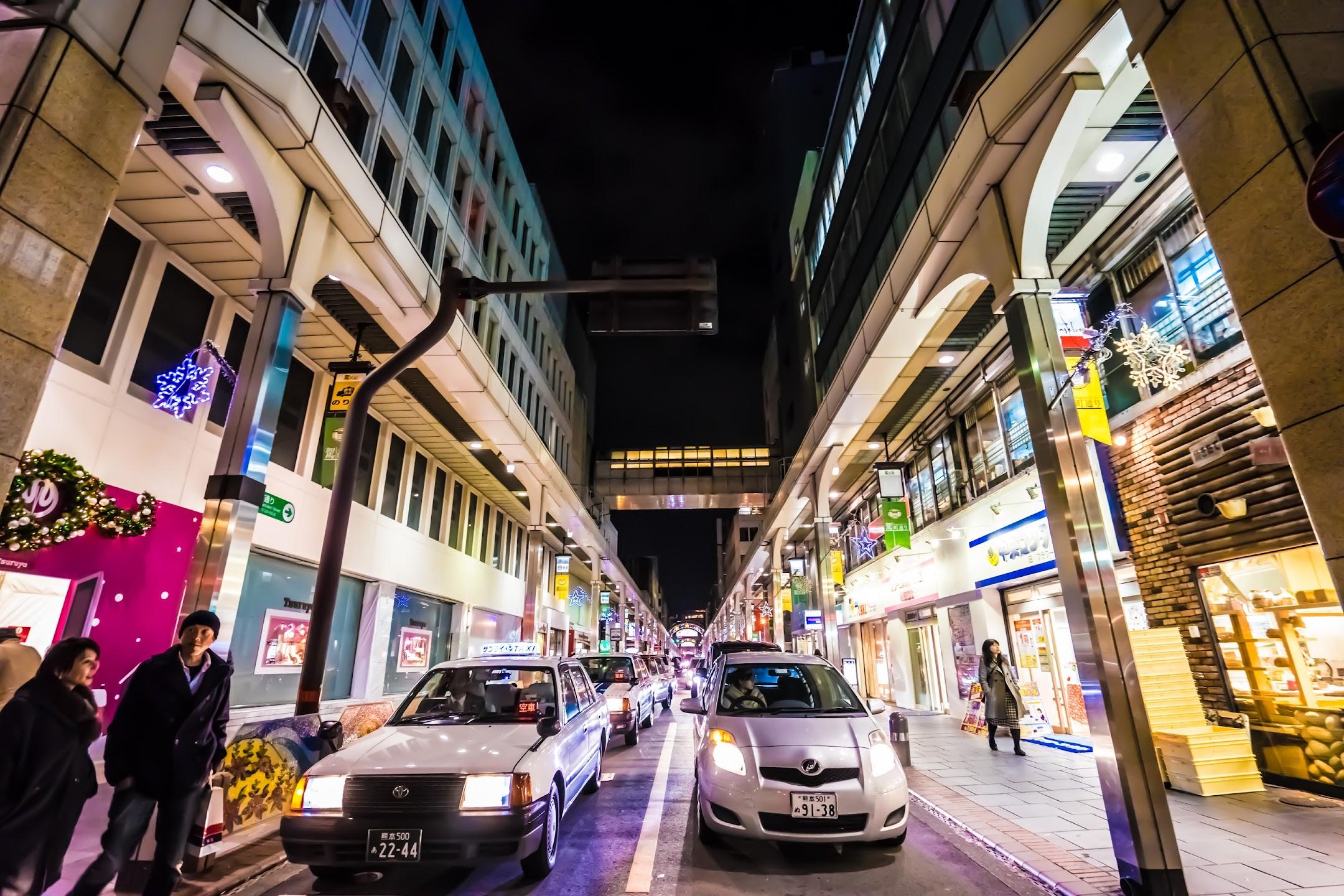 熊本 夜 鶴屋百貨店2