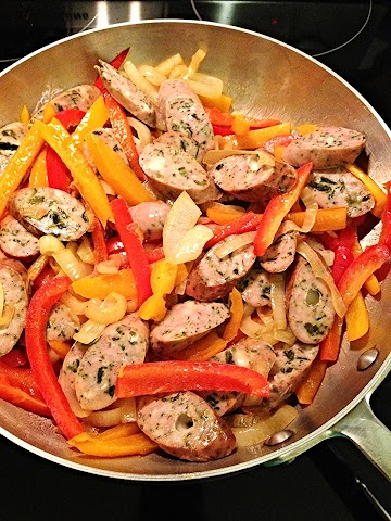 Super Simple Sausage, Peppers And Onion Recipe