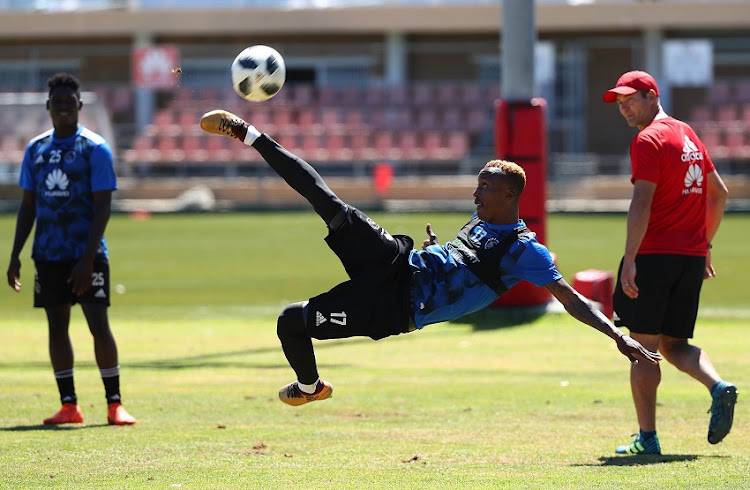 Yannick Zakri of Ajax Cape Town during the Ajax Cape Town morning training session at Ikamva, Cape Town on 24 January 2018.
