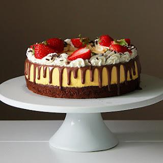 Mango Mousse Chocolate Cake.