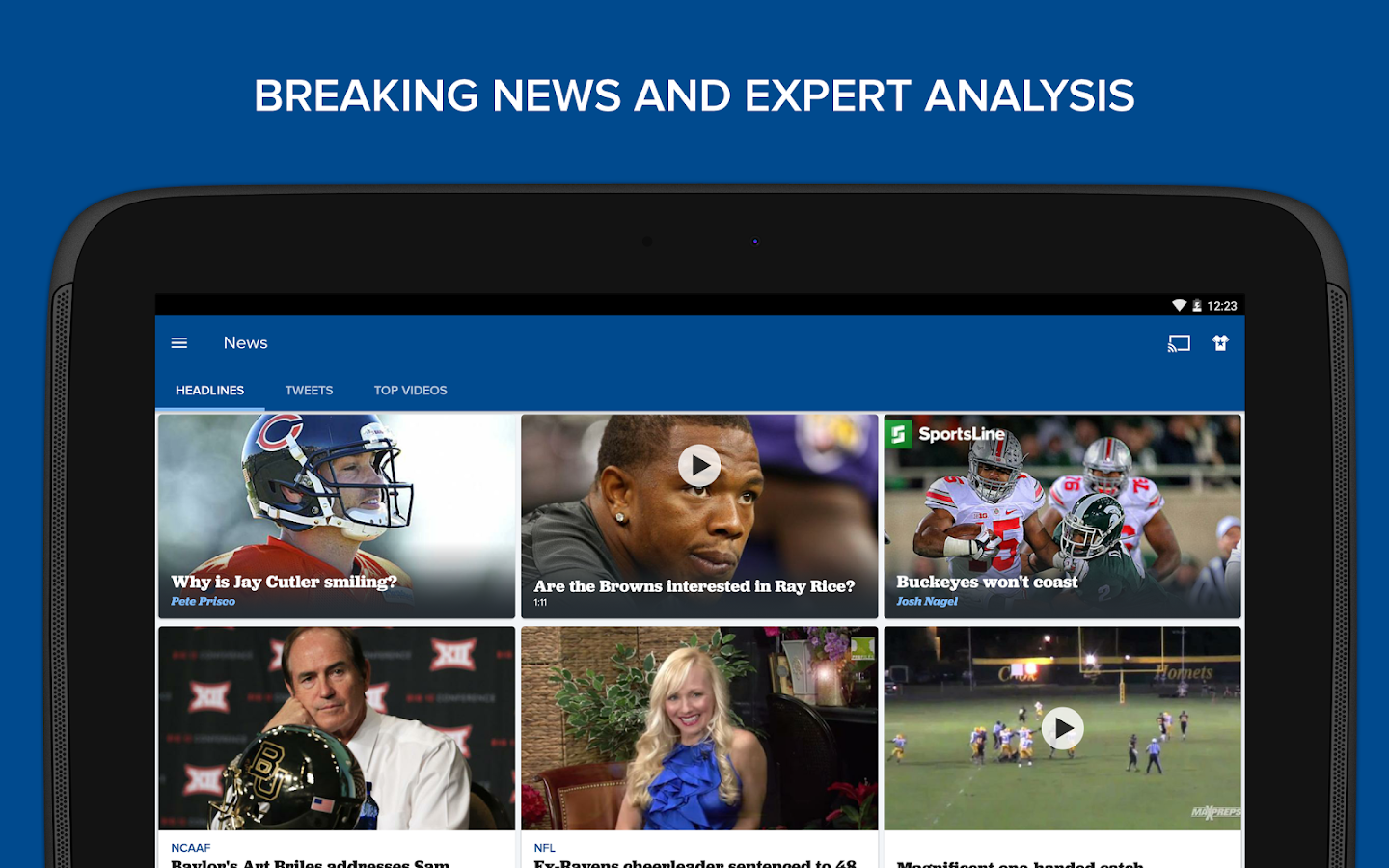 CBS Sports- screenshot