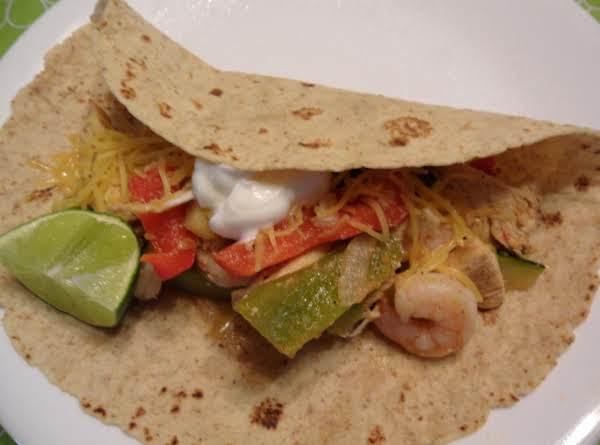 Healthy Shrimp-chicken Fajitas Recipe
