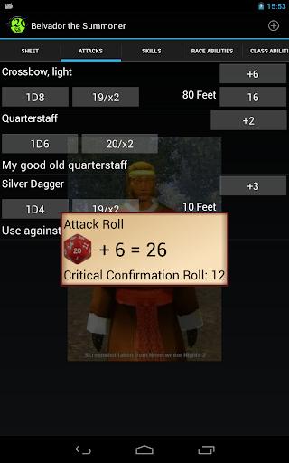 d20 Character Sheet screenshot 18