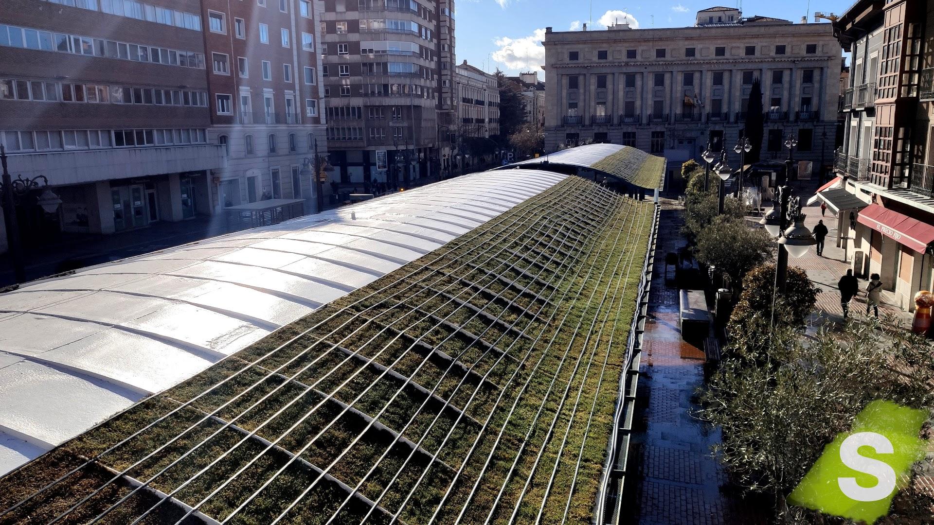 Cubierta vegetal instalada en la ciudad de Valladolid como iniciativa del proyecto Europeo UrbanGreenUp