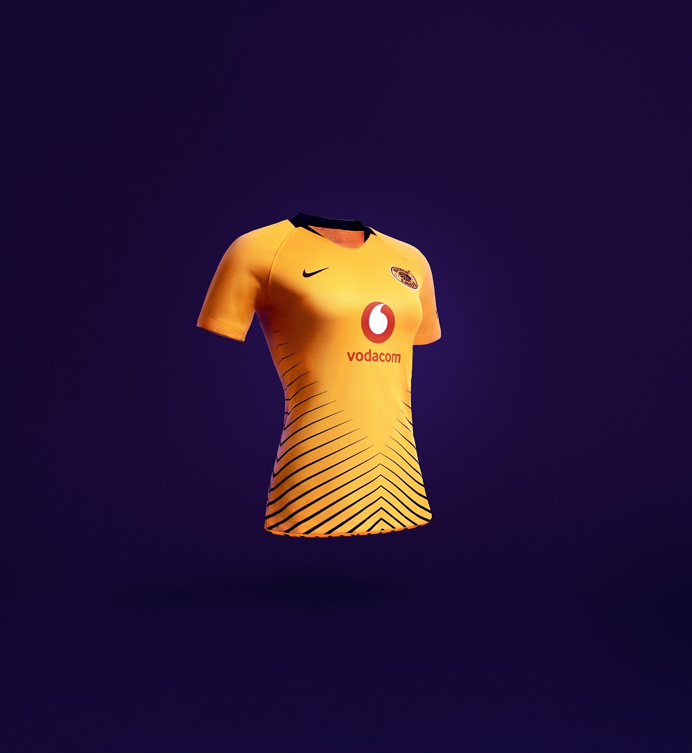 Kaizer Chiefs' women's team jersey.