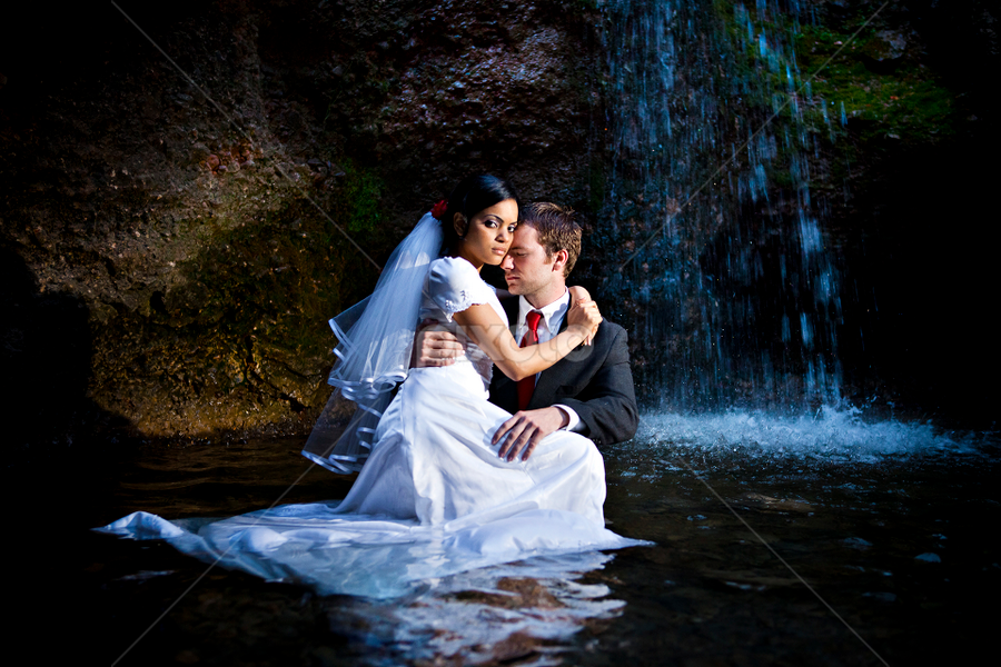 by David Terry - People Couples ( water, falls, grotto )