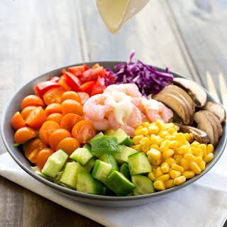 Rainbow Prawn Salad