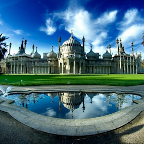 Royal Pavilion, Brighton, England by Peter Greenhalgh - Travel Locations Landmarks ( prince of wales, uk, brighton, england, seaside retreat, royal pavilion, indian style, palace, united kingdom, royal residence )