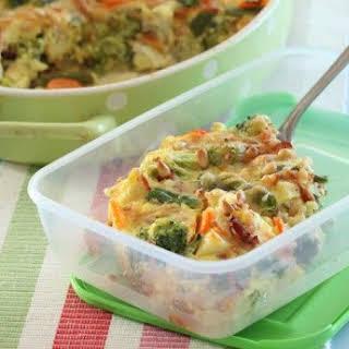 Diet Chicken Casserole with Vegetables.