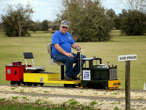 Photo: Gerald Lee with his train.   HALS Chili Fest Meet 2014-0301 RPW