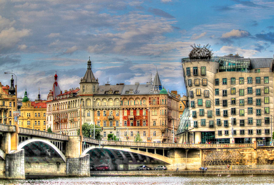 The dancing House in Prague by Miranda Luyckx - Buildings & Architecture Bridges & Suspended Structures