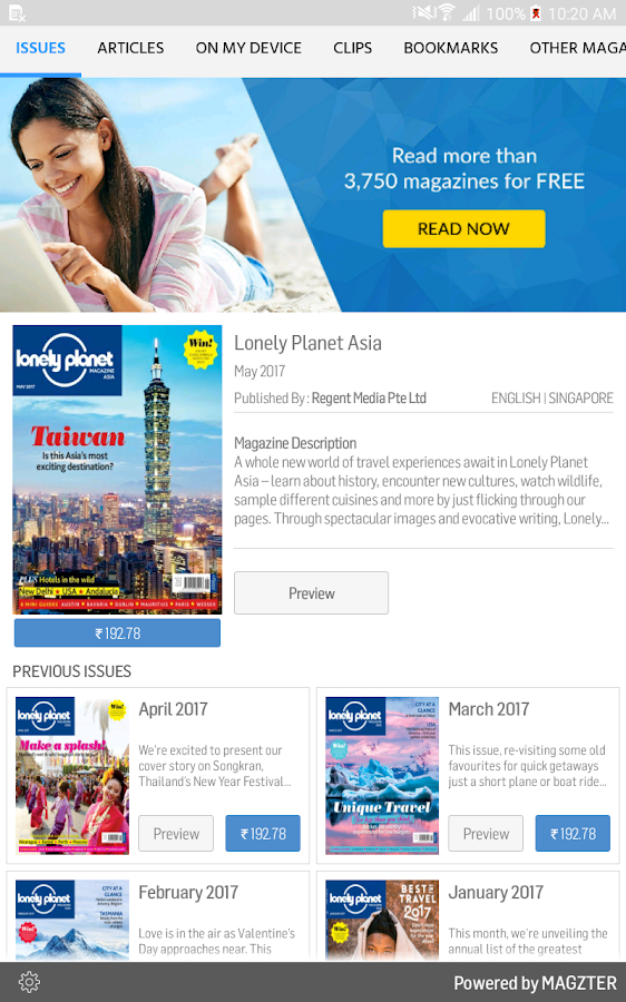 Lonely Planet Asia- screenshot