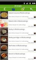 Screenshot of Multicooking recipes