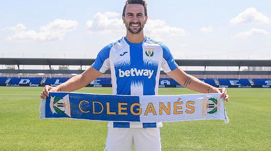 Juan Muñoz en su presentación con el Leganés.