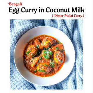 Bengali Egg Curry in Coconut Milk (Dimer Malai Curry).
