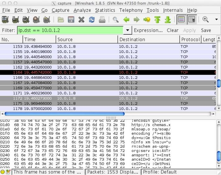 Image result for Wireshark UpNP mirrorlink