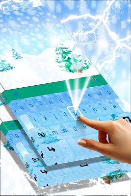 Winter Snow Keyboard Theme - screenshot