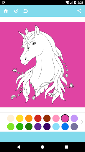 Unicorn Coloring Book  captures d'u00e9cran 1