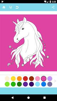 Unicorn Coloring Book APK screenshot thumbnail 1