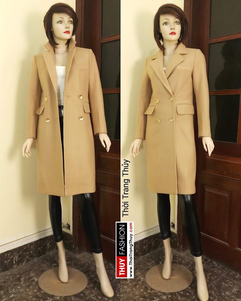Áo khoác dạ nữ dáng dài màu lạc đà V665 tại hải phòng