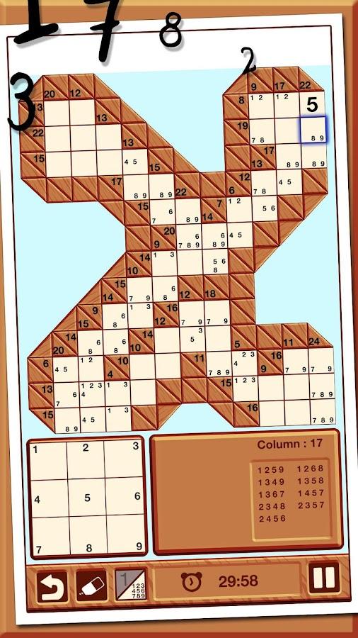 Kakuro android apps on google play - Kakuro cross sums combinations table ...